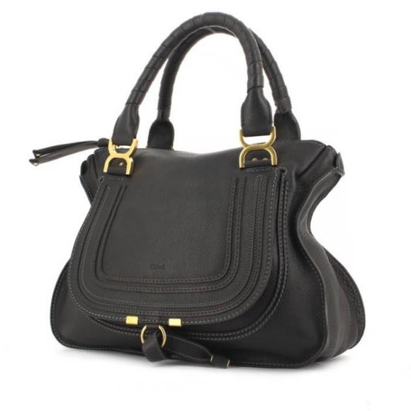 83fd98cf46 SALE 📌 Chloe Marcie Black Calfskin Medium Bag. M_5abecd69a4c485774527c142